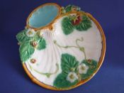 Lovely Minton Majolica White Ground Strawberry Serving Plate c1870